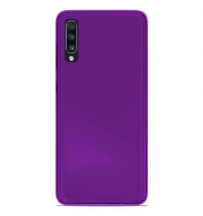 Coque Samsung Galaxy A50 Silicone Gel givré - Violet Translucide