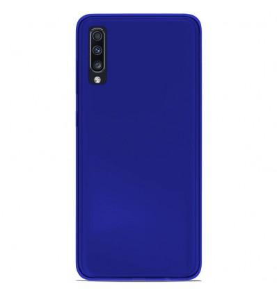 Coque Samsung Galaxy A70 Silicone Gel givré - Bleu Translucide