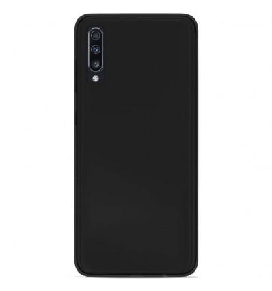 Coque Samsung Galaxy A70 Silicone Gel givré - Noir