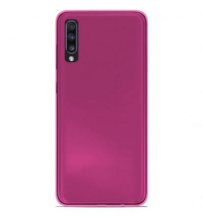 Coque Samsung Galaxy A70 Silicone Gel givré - Rose Translucide