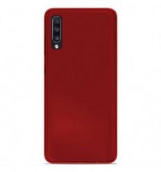 Coque Samsung Galaxy A70 Silicone Gel givré - Rouge Translucide