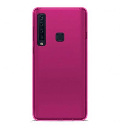 Coque Samsung Galaxy A9 2018 Silicone Gel givré - Rose Translucide
