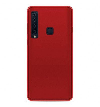 Coque Samsung Galaxy A9 2018 Silicone Gel givré - Rouge Translucide