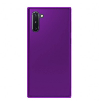 Coque Samsung Galaxy Note 10 Silicone Gel givré - Violet Translucide