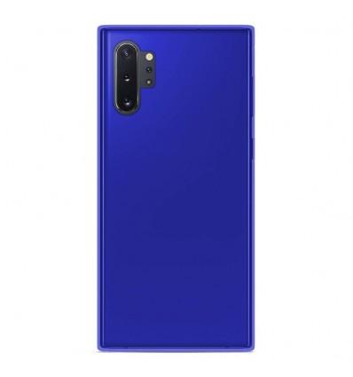 Coque Samsung Galaxy Note 10 Plus Silicone Gel givré - Bleu Translucide