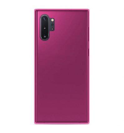 Coque Samsung Galaxy Note 10 Plus Silicone Gel givré - Rose Translucide