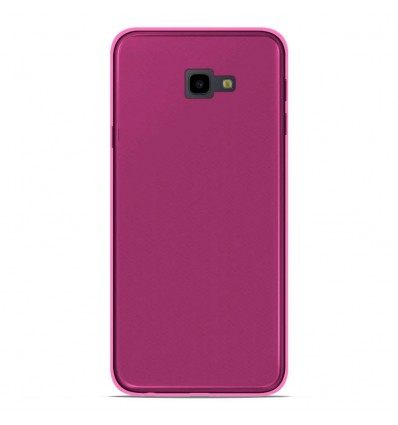 Coque Samsung Galaxy J4 plus 2018 Silicone Gel givré - Rose Translucide