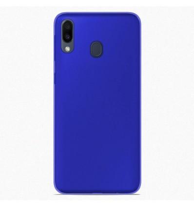 Coque pour Samsung Galaxy M20 Silicone Gel givré - Bleu Translucide