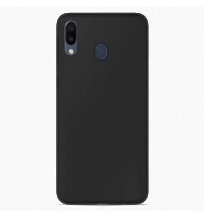 Coque Samsung Galaxy M20 Silicone Gel givré - Noir
