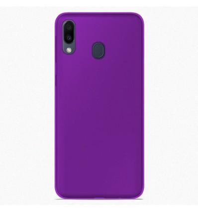 Coque Samsung Galaxy M20 Silicone Gel givré - Violet Translucide