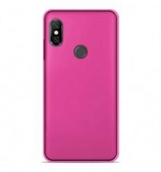Coque Xiaomi Redmi Note 6 / Note 6 Pro Silicone Gel givré - Rose Translucide