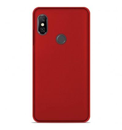 Coque Xiaomi Redmi Note 6 / Note 6 Pro Silicone Gel givré - Rouge Translucide