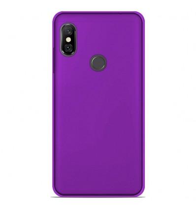 Coque Xiaomi Redmi Note 6 / Note 6 Pro Silicone Gel givré - Violet Translucide