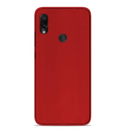 Coque Xiaomi Redmi Note 7 / Note 7 Pro Silicone Gel givré - Rouge Translucide