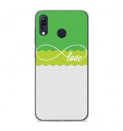 Coque en silicone Asus Zenfone Max M1 ZB555KL - Love Vert