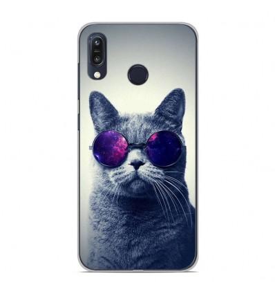 Coque en silicone Asus Zenfone Max M1 ZB555KL - Chat à lunette