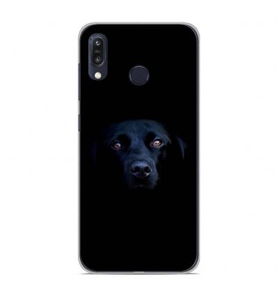 Coque en silicone Asus Zenfone Max M1 ZB555KL - Chien noir