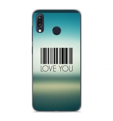 Coque en silicone Asus Zenfone Max M1 ZB555KL - Code barre Love you
