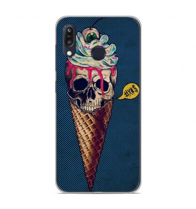 Coque en silicone Asus Zenfone Max M1 ZB555KL - Ice cream skull blue