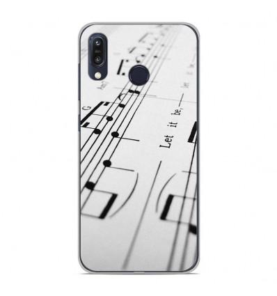Coque en silicone Asus Zenfone Max M1 ZB555KL - Partition de musique