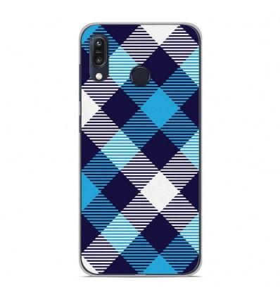 Coque en silicone Asus Zenfone Max M1 ZB555KL - Tartan Bleu