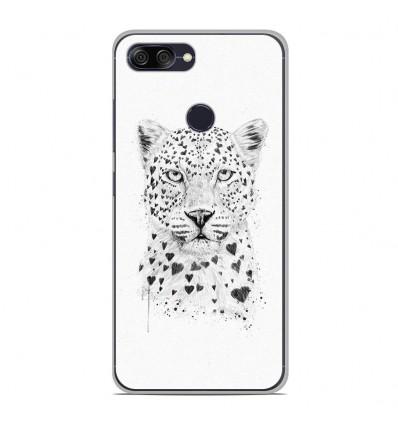 Coque en silicone pour Asus Zenfone Max Plus M1 ZB570TL - BS Love leopard