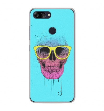 Coque en silicone Asus Zenfone Max Plus M1 ZB570TL - BS Skull glasses