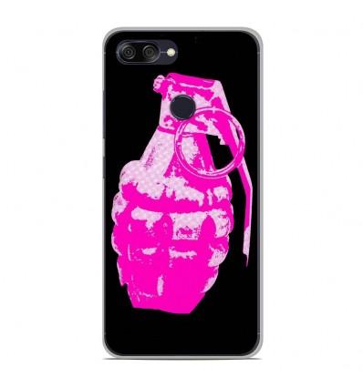 Coque en silicone Asus Zenfone Max Plus M1 ZB570TL - Grenade rose