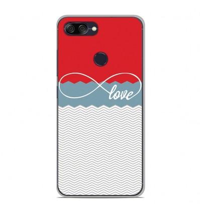 Coque en silicone Asus Zenfone Max Plus M1 ZB570TL - Love Rouge
