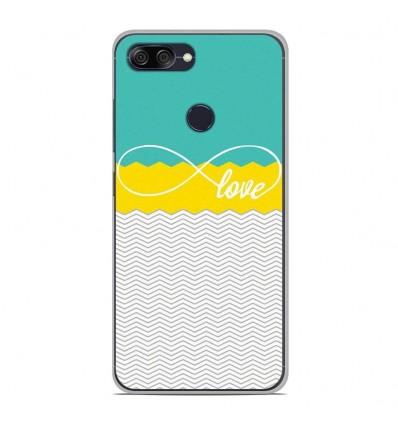 Coque en silicone pour Asus Zenfone Max Plus M1 ZB570TL - Love Turquoise