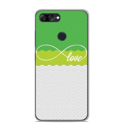 Coque en silicone Asus Zenfone Max Plus M1 ZB570TL - Love Vert