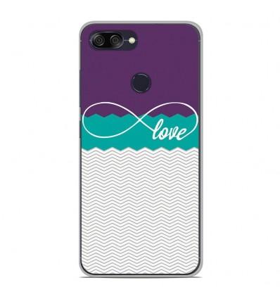 Coque en silicone pour Asus Zenfone Max Plus M1 ZB570TL - Love Violet
