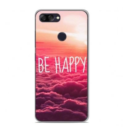 Coque en silicone pour Asus Zenfone Max Plus M1 ZB570TL - Be Happy nuage