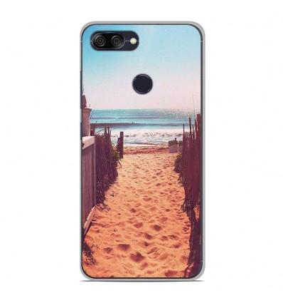 Coque en silicone Asus Zenfone Max Plus M1 ZB570TL - Chemin de plage