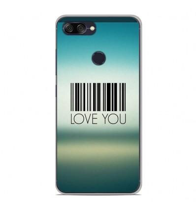 Coque en silicone Asus Zenfone Max Plus M1 ZB570TL - Code barre Love you