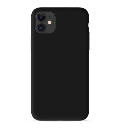 Coque Apple iPhone 11 Silicone Gel mat - Noir Mat