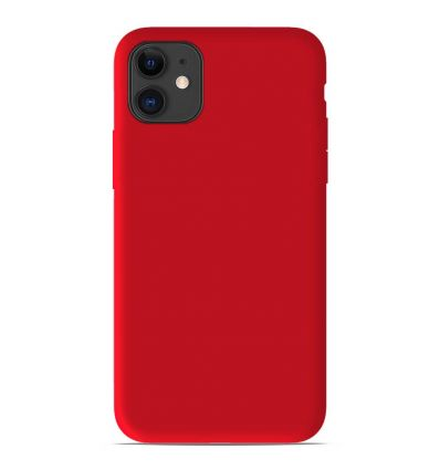 Coque Apple iPhone 11 Silicone Gel mat - Rouge Mat