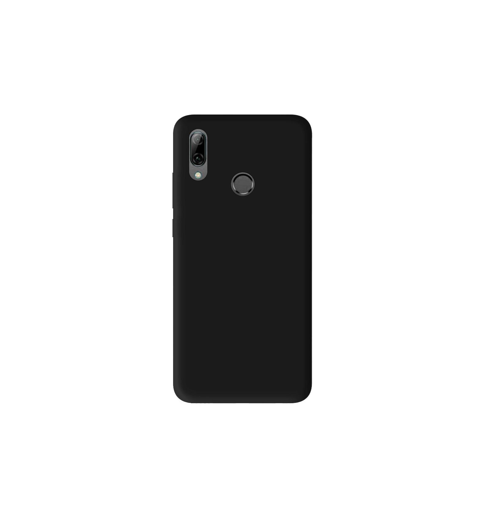 Coque Huawei P Smart 2019 Silicone Gel mat - Noir Mat