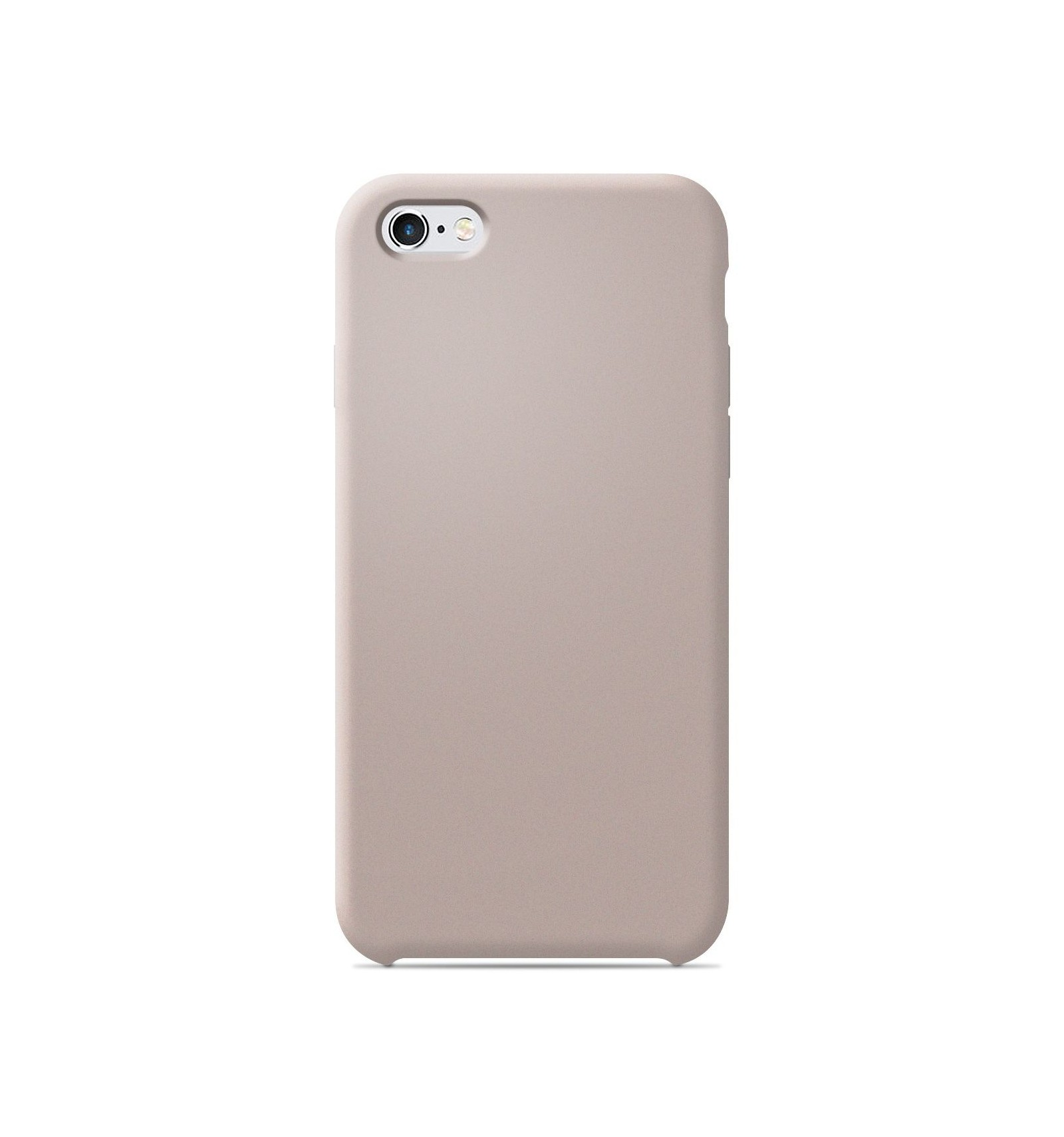 coque apple iphone 6 6s silicone soft touch sable rose