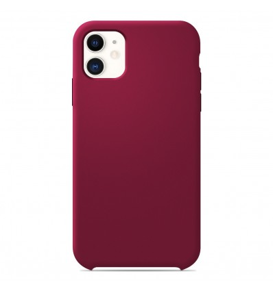 Coque Apple iPhone 11 Silicone Soft Touch - Rouge Passion