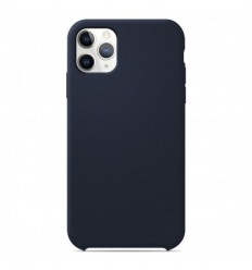 Coque Apple iPhone 11 Pro Max Silicone Soft Touch - Bleu nuit
