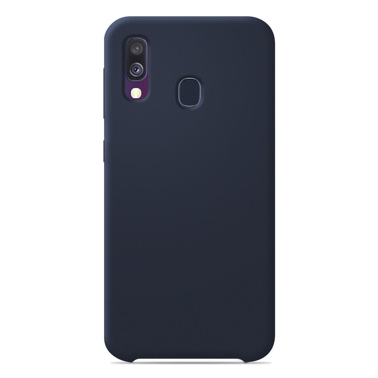 Coque Samsung Galaxy A40 Silicone Soft Touch - Bleu nuit