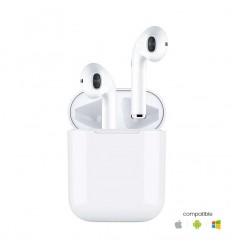 Ecouteurs Sans fils Bluetooth - Blanc
