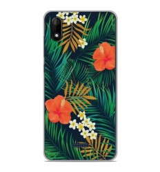 Coque en silicone Wiko Y80 - Tropical