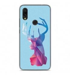 Coque en silicone Xiaomi Redmi 7 - Cerf Hipster Bleu
