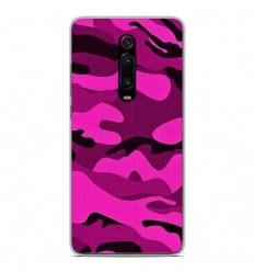 Coque en silicone Xiaomi Mi 9T - Camouflage rose