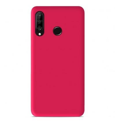 Coque Huawei P30 Lite Silicone Gel mat - Rose Mat