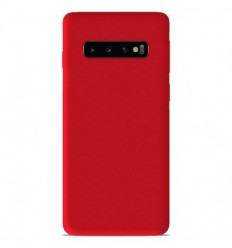 Coque Samsung Galaxy S10 Plus Silicone Gel mat - Rouge Mat