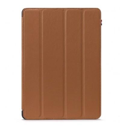 Housse tablette Apple iPad 2017 - Véritable cuir Marron