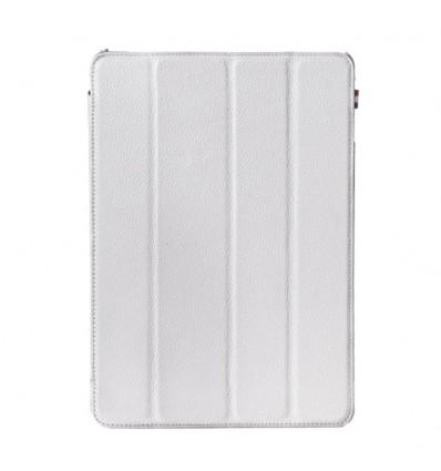 Housse tablette Apple iPad Air - Véritable cuir Blanc